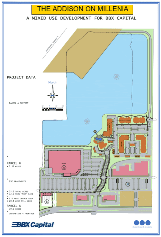 Site Plan Addison on Millenia
