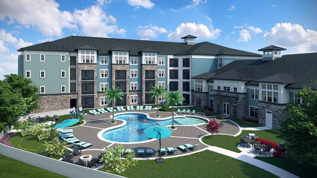 The Addison on Millenia rendering