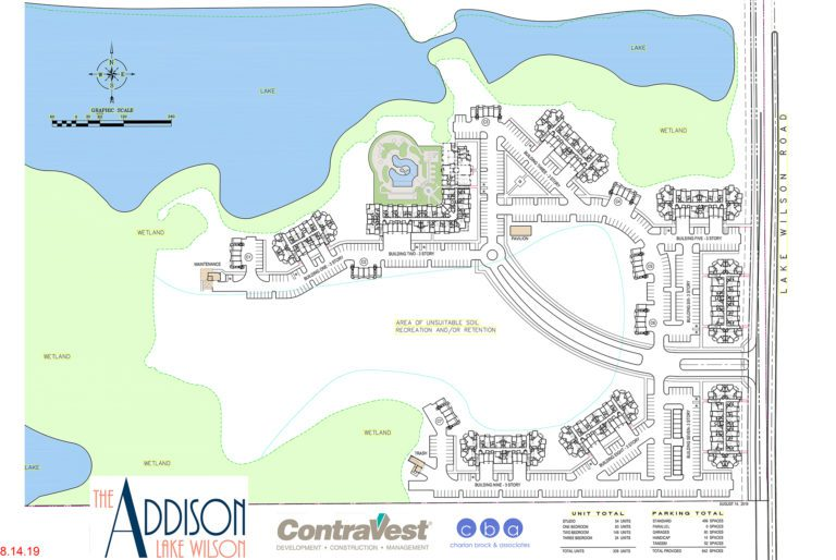 The Addison Lake Wilson site map