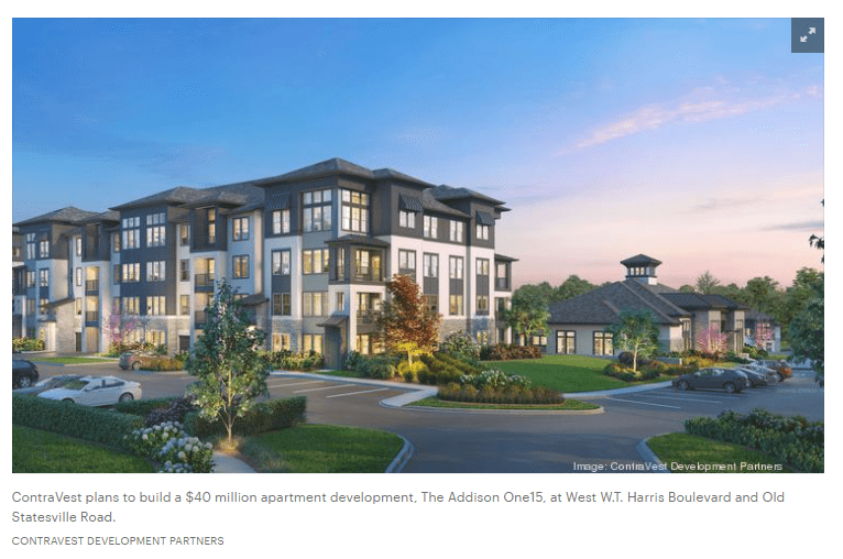 The Addison One15 WT Harris Charlotte Business Journal ContraVest rendering