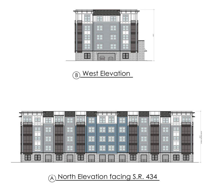 The Addison Longwood building elevation